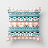 Tribal Triangle Throw Pillow