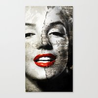Marilyn Monroe - Wall painting Canvas Print