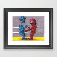 Rock'em Sac'em Framed Art Print