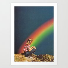 NIGHT RAINBOW Art Print