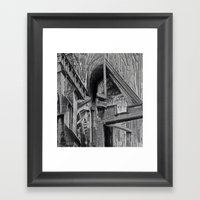 English Gothic (Halftone) Framed Art Print