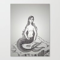 My-thology, the Mermaid Canvas Print