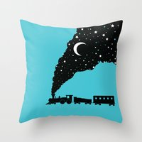 The Night Train Throw Pillow