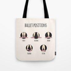 Ballet Positions Cream Tote Bag
