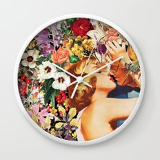 Floral Bed Wall Clock