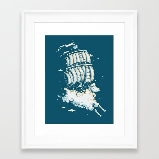 Shipped Away Framed Art Print