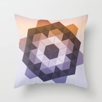 Patchwork Tiles II Throw Pillow
