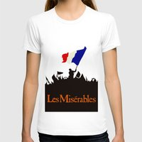 Les Miserables Womens Fitted Tee White SMALL