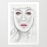 Porcelain Beauty Art Print