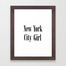 New York City Girl Framed Art Print