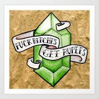 zelda Art Prints featuring Zelda by Danni Fuentes