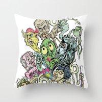 Sick Sick Sick Marc M. O… Throw Pillow