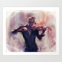 Violin and James Carstairs Art Print