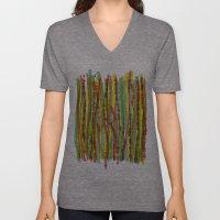 patterns - spaghettis 1 Unisex V-Neck
