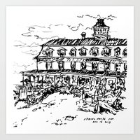 Spring House Inn, Block Island Art Print