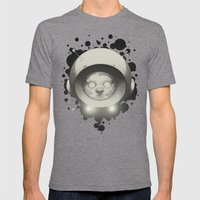 Space Kitty Mens Fitted Tee Tri-Grey SMALL