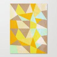 Geometric Warm Canvas Print