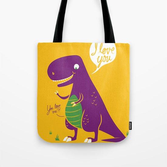 The Friendly T-Rex Tote Bag