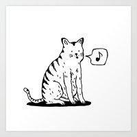 Cat Whistle Art Print