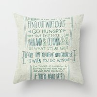 Henry Rollins Throw Pillow