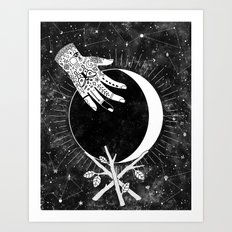 Waxing Crescent Art Print