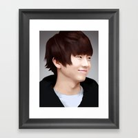 Wooyoung of 2PM Framed Art Print