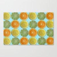 Lemons, Limes, Oranges, Oh my!  Citrus Photography Canvas Print