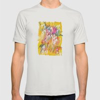 Azteca Mens Fitted Tee Silver SMALL