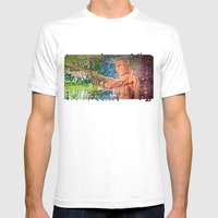 Stop Biting 3 Mens Fitted Tee White SMALL