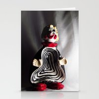 Death Spiral Ashtray Clown Stationery Cards