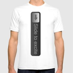 Slide... White Mens Fitted Tee SMALL