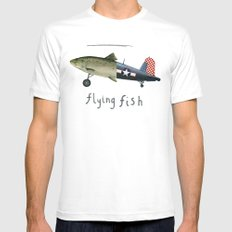 flying fish Mens Fitted Tee SMALL White