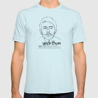 Uncle Thom Mens Fitted Tee Light Blue SMALL