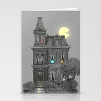 pattern Stationery Cards featuring Haunted by the 80's by Terry Fan