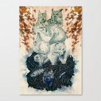The Forest Folk Canvas Print