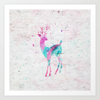 Pink And Turquoise Cute … Art Print