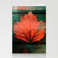 Rusty Red Dried Fall Lea… Stationery Cards