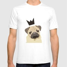 Royal pug Mens Fitted Tee White SMALL