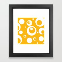 Circles Dots Bubbles :: Mango Framed Art Print