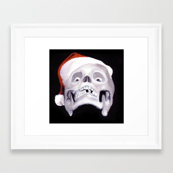 Black XMas. Bastard Son Of Santa Framed Art Print
