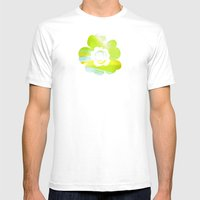 In Between Yellow, Green and Blue - JUSTART © Mens Fitted Tee White SMALL
