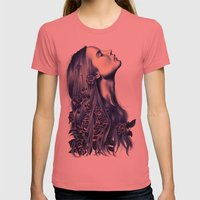 Bloom Womens Fitted Tee Pomegranate SMALL