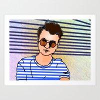 dumb self portrait 7.12.2015 Art Print