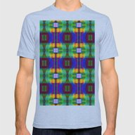 Be Happy, Geometric Colo… Mens Fitted Tee Athletic Blue SMALL