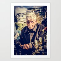 The Kadikoy Shoe Shiner Art Print