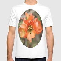 Orange Blossoms Mens Fitted Tee White SMALL
