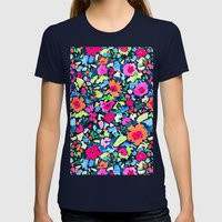 Liv's Room (Orange) Womens Fitted Tee Navy SMALL