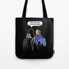 Vader Skeletor I Find your lack of face disturbing  Tote Bag