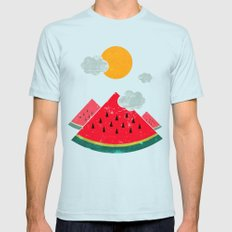 eatventure time! Mens Fitted Tee Light Blue SMALL