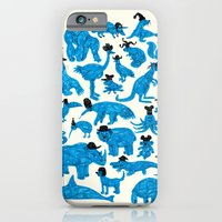 Blue Animals Black Hats iPhone 6 Slim Case